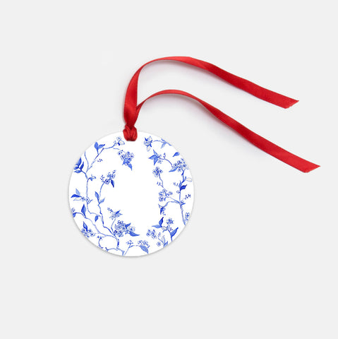 Cobalt Orchid Ornament