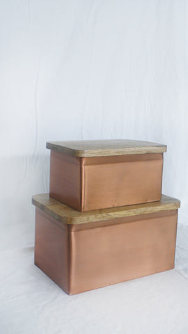 Artisan Copper Boxes - Set of 2
