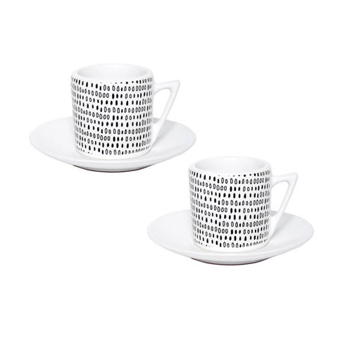 Handmade Mini Dots Espresso Cups - set of 2