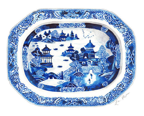 Blue and White Ginger Jar Tray 12