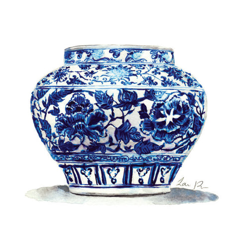 Blue and White China Jar No. 14