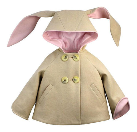 Luxe Bunny Coat in Champagne & Pink