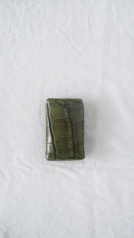 Moss Alligator Card Holder