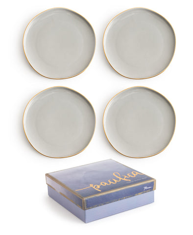 Gilded Appetizer Plates - S/4