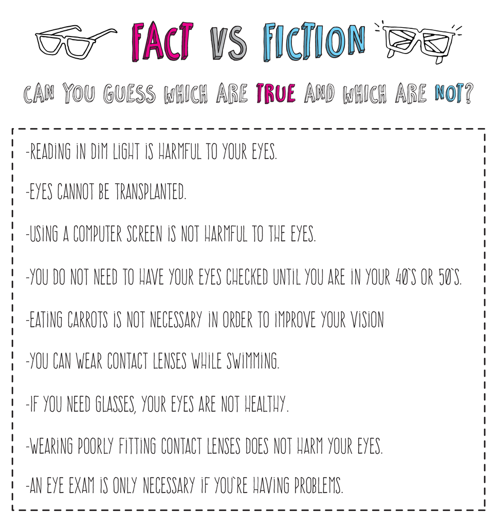 Kids Eye Health Fact or Fiction