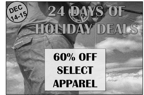 Days 14-15: 60% off Apparel