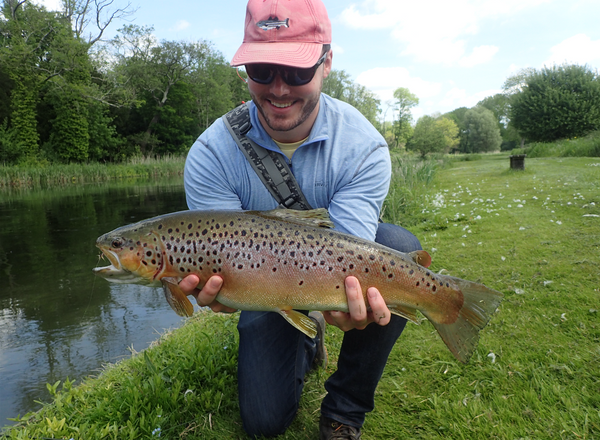 Fly Fishing For Big British Brown Trout on the River Test