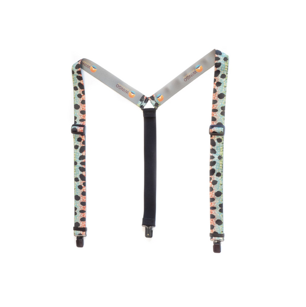 Wingo Fish Skin Suspenders