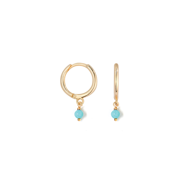 Huggie Small Turquoise Earring