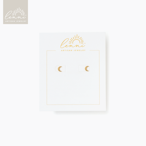 Lenni and Co® Moon Stud Earring