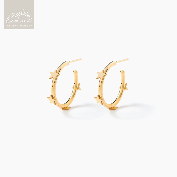 Lenni and Co® Star Hoop Earring