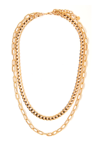 Quinn Gold Double Necklace