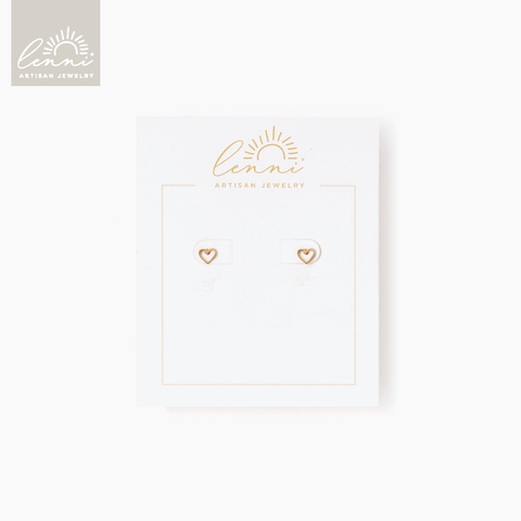 Lenni and Co® Heart Stud Earring