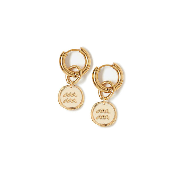 Zodiac Hoop Earrings