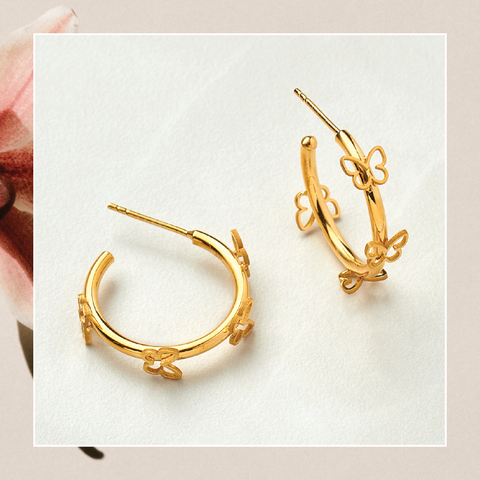 Lenni and Co® Butterfly Hoop Earrings