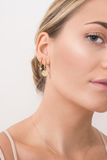 Small Gold Huggie Earring
