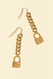 Lock Drop Earring