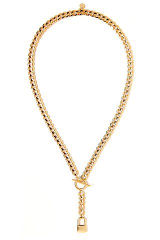 Lock Lariat Necklace