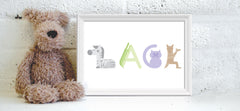 Personalised baby name prints