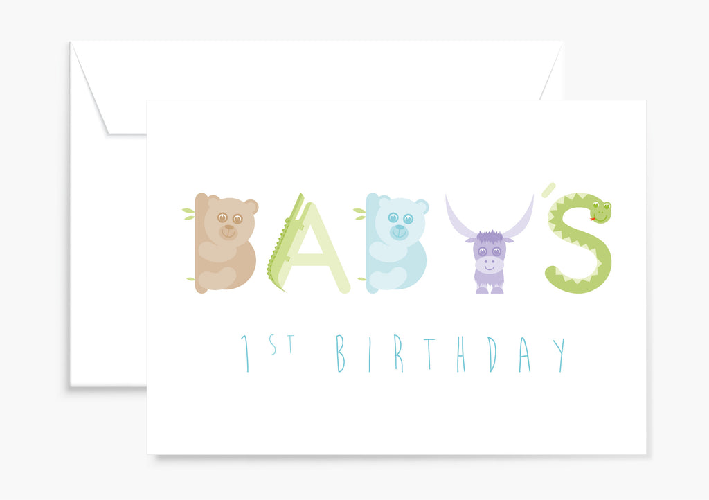 Baby's 1st Birthday card