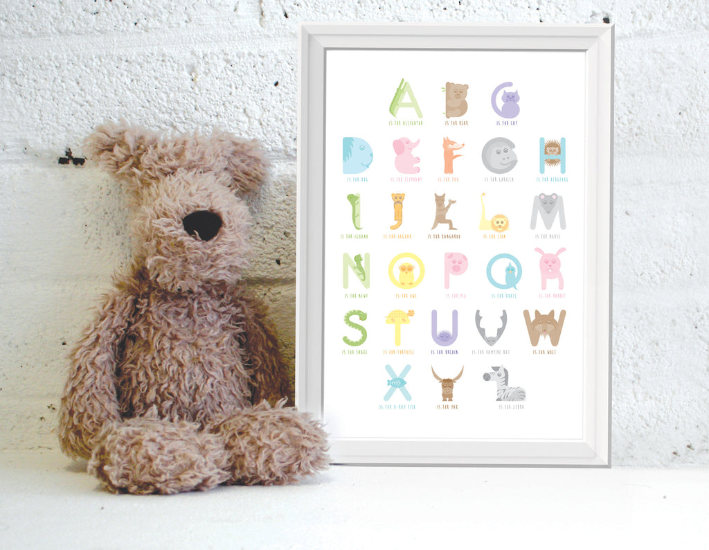 Alphanimals Full Alphabet A3 print
