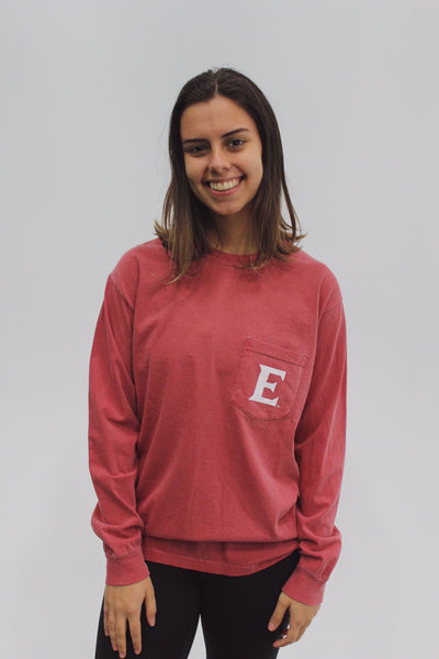"""It's Cooler at Elon"" Long Sleeve Pocket Shirt"