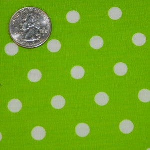 #161 Lime Green Dots