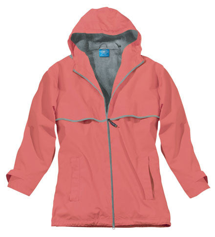 Monogram Embroidered Ladies Rain Jacket