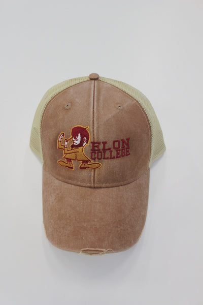 Elon College Hat with Fight Christian Mascot