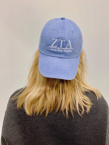 Greek Embroidered Hat - Sorority or Fraternity