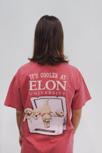 """It's Cooler at Elon"" Short Sleeve Pocket Shirt"