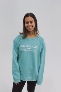 Classic Script Sorority Sweatshirt with State