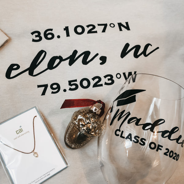 Elon Grad Package with Coordinates T-Shirt