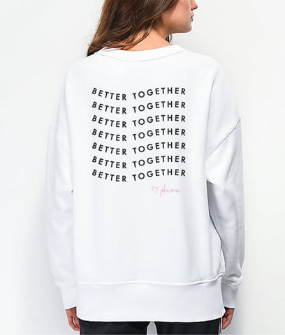 Sorority Better Together Sweatshirt and Mask