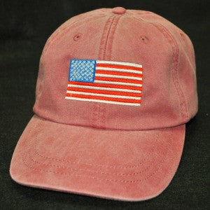 Red American Flag Embroidered Hat - by All that JAS