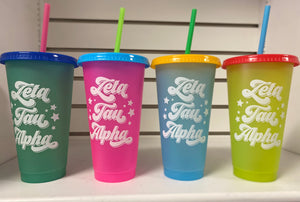 Sorority Color Changing Cup
