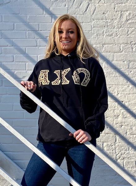 Greek Hooded Sweatshirt Letter Shirt