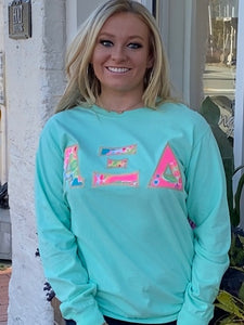 Greek Long Sleeve Letter Shirt