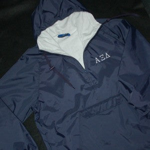 Custom Greek Organization Embroidered Rain Pullover for your Fraternity or Sorority