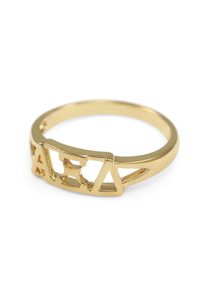 Sorority Gold Cut Out Ring