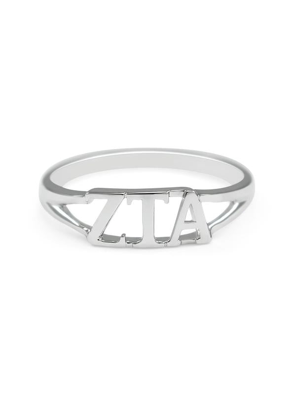 Sorority Sterling Silver Cut Out Ring