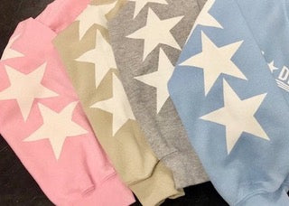 Sorority Stars and Stripes Hoodie with Star Sleeves