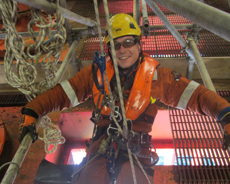 Fraser Philip, rope access north sea Armadillo Merino® champion