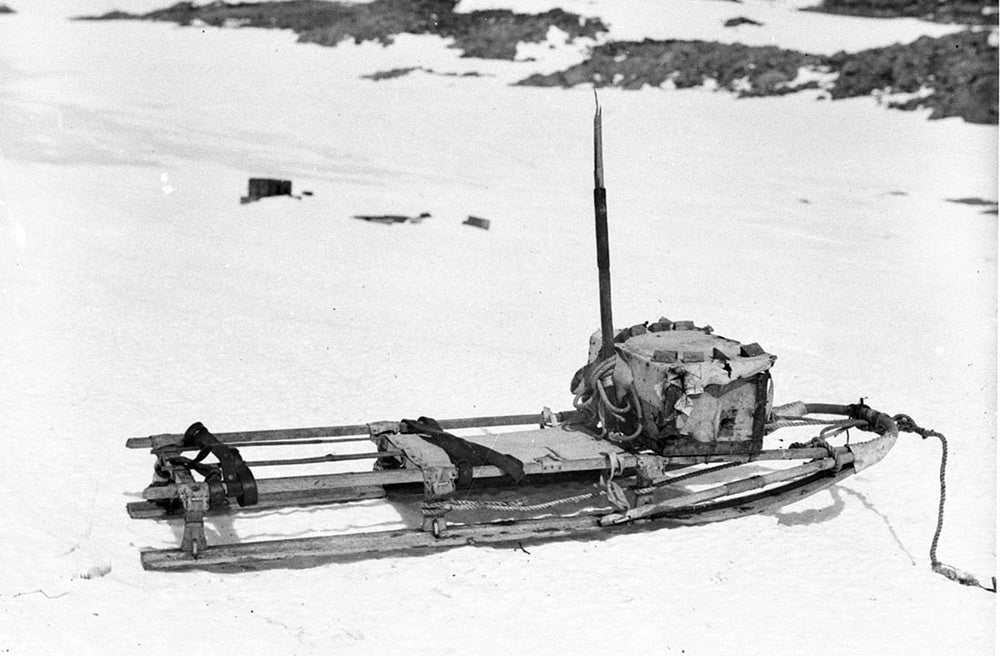 The sled that Mawson used for the final part of his heroic journey