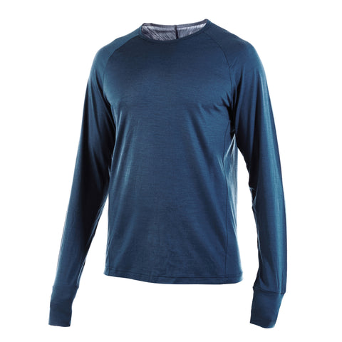 Blue PANTHER - Big Cat Long Sleeve Crew Neck - Blue - S