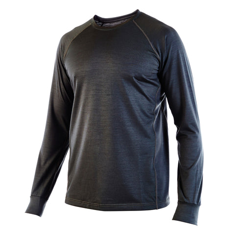 Dark Olive PYTHON - Elite Long Sleeve Crew Neck