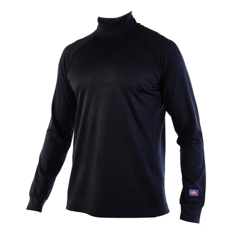 Black MONTY - Elite Long Sleeve Mock Turtle Neck - XS