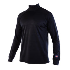 MONTY - Mens Merino Wool Baselayer Elite Long Sleeve Mock Turtle Neck - XS