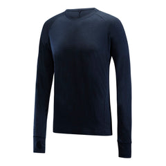 PANTHER - Mens Merino Wool Baselayer Big Cat Long Sleeve Crew Neck - Blue - XS & S