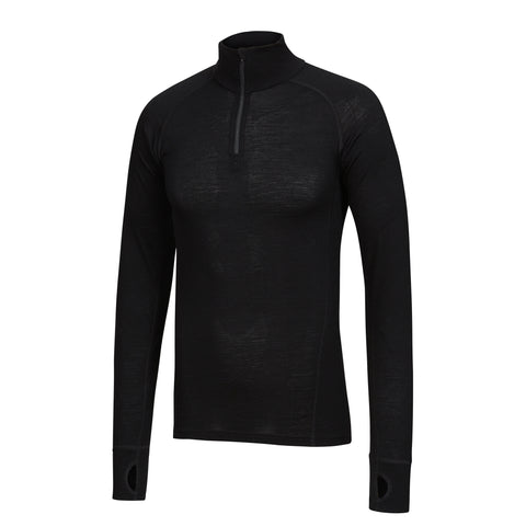 TIGER - Mens Merino Wool Big Cat Long Sleeve Zip Top XS & S TIGER - Mens Merino Wool Big Cat Long Sleeve Zip Top XS & S